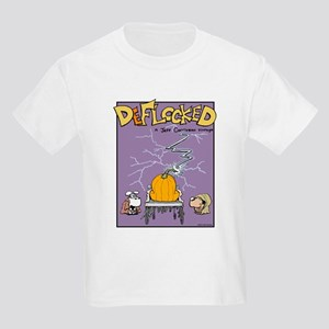 Deflocked Pumpkin Kids Light T-Shirt