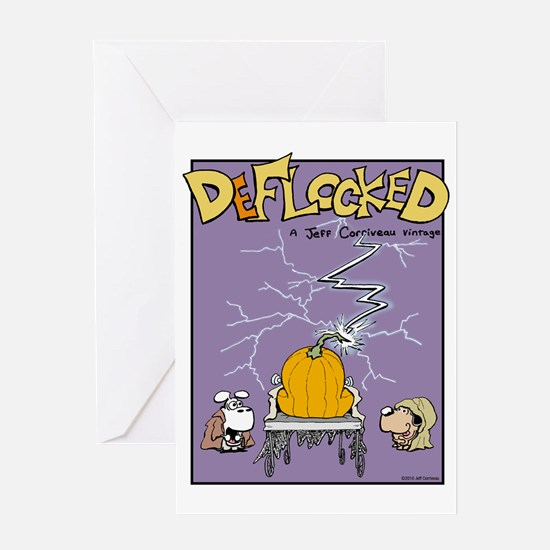 Deflocked Pumpkin Greeting Card
