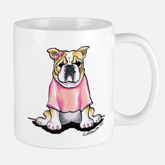 Girly Bulldog Mug