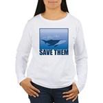 Save The Whales Women's Long Sleeve T-Shirt
