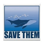 Save The Whales Tile Coaster