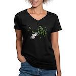 Mamet Money Women's V-Neck Dark T-Shirt