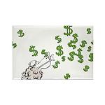 Mamet Money Rectangle Magnet