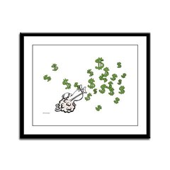 Mamet Money Framed Panel Print