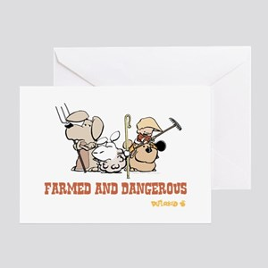 Farmed and Dangerous Greeting Card