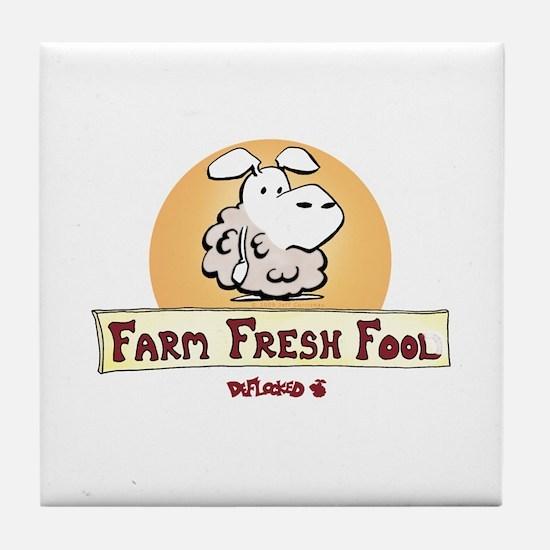 Farm Fresh Fool Tile Coaster