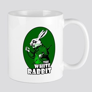 White Rabbit Logo Green Mug