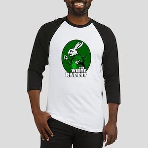 White Rabbit Logo Green Baseball Jersey