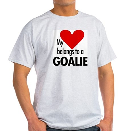 Heart belongs, goalie Ash Grey T-Shirt
