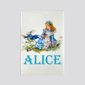 ALICE IN WONDERLAND - BLUE Rectangle Magnet