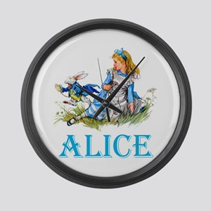 ALICE IN WONDERLAND - BLUE Large Wall Clock
