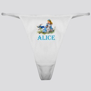 ALICE IN WONDERLAND - BLUE Classic Thong
