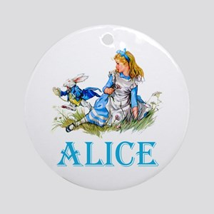 ALICE IN WONDERLAND - BLUE Ornament (Round)