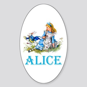 ALICE IN WONDERLAND - BLUE Sticker (Oval)
