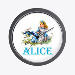 ALICE IN WONDERLAND - BLUE Wall Clock