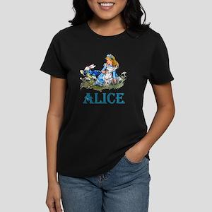 ALICE IN WONDERLAND - BLUE Women's Dark T-Shirt