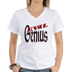 Evil Genius Women's V-Neck T-Shirt