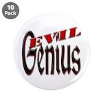 """Evil Genius 3.5"""" Button (10 pack)"""