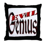 Evil Genius Throw Pillow