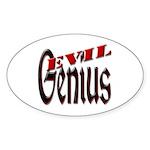 Evil Genius Sticker (Oval)