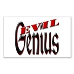 Evil Genius Sticker (Rectangle)