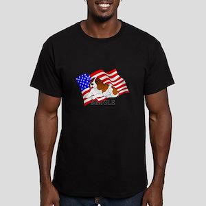 Beagle USA Men's Fitted T-Shirt (dark)