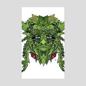 Green Man Sticker (Rectangle)