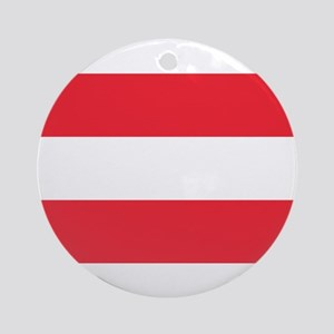 Austrian Flag Ornament (Round)
