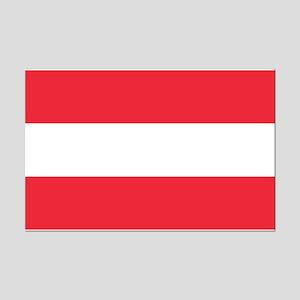 Austrian Flag Mini Poster Print