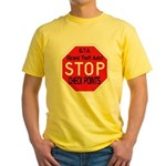 Stop The Checkpoints Yellow T-Shirt