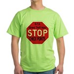 Stop The Checkpoints Green T-Shirt
