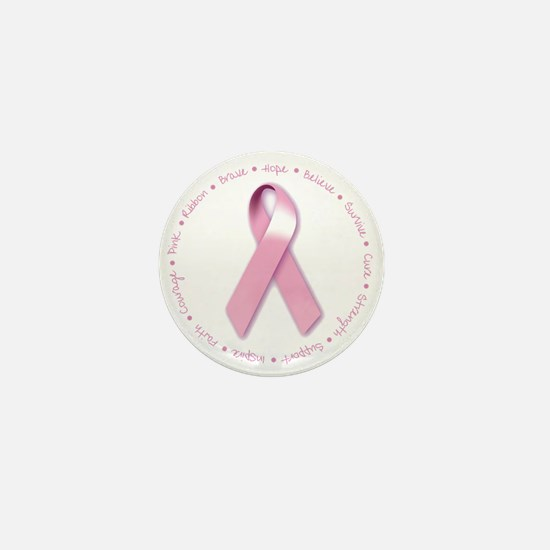 Cute Breast cancer walk Mini Button