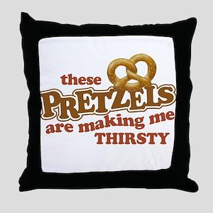Pretzels Making Me Thirsty Throw Pillow