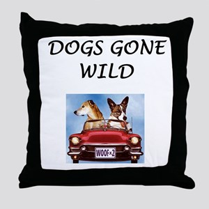 Dogs gone wild Throw Pillow