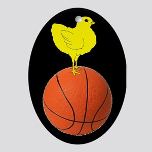 Basketball Chick Ornament (Oval)