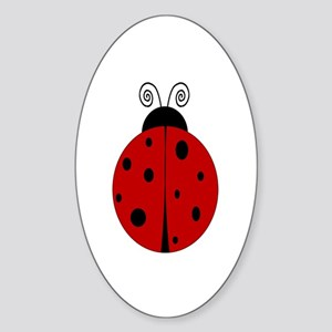Ladybug - Personalized with Sticker (Oval)