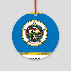 Minnesota State Flag Ornament (Round)