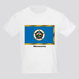 Minnesota State Flag (Front) Kids T-Shirt