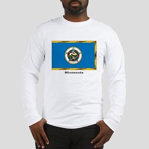 Minnesota State Flag (Front) Long Sleeve T-Shirt