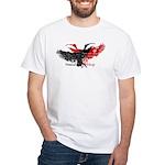 Scarlet Ibis / Trinidad White T-Shirt