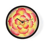 Flametip Flower Wall Clock