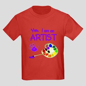 Yes I Am an Artist Kids Dark T-Shirt