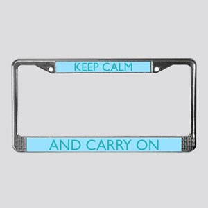 Sky Blue License Plate Frame