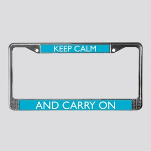 Caribbean Blue License Plate Frame