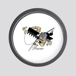 Power Coat of Arms / Crest Wall Clock