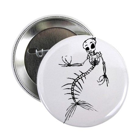 "Mermaid Skeleton 2.25"" Button"