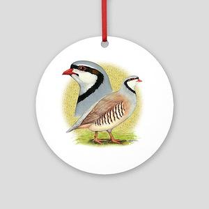 Partridge Chukar Ornament (Round)