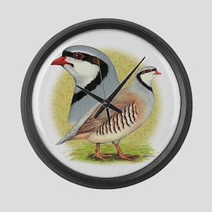 Partridge Chukar Large Wall Clock