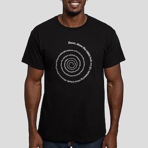 Down Rabbit Hole Men's Fitted T-Shirt (dark)