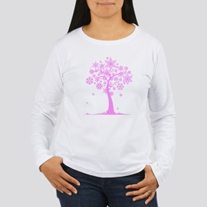 Winter Snowflake Tree Women's Long Sleeve T-Shirt